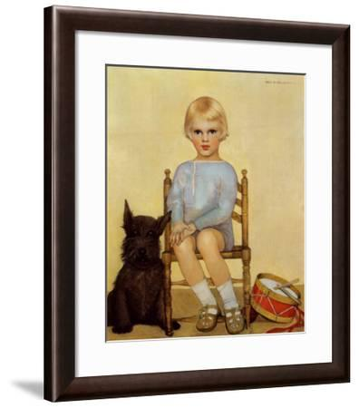 Boy with Dog, 1933-Maria Dekammerer-Framed Art Print