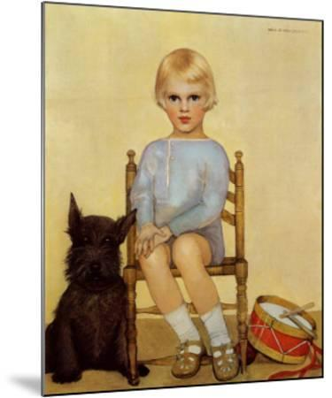 Boy with Dog, 1933-Maria Dekammerer-Mounted Art Print