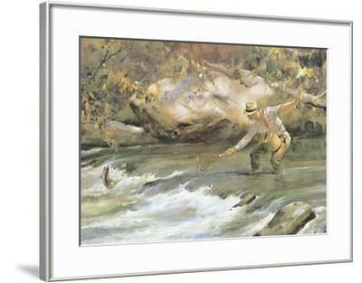 Trout Stream-James M^ Sessions-Framed Art Print