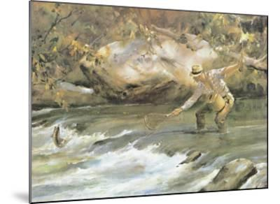 Trout Stream-James M^ Sessions-Mounted Art Print