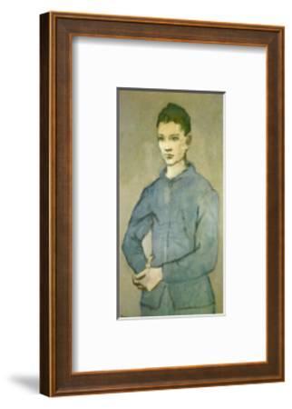 Blue Boy-Pablo Picasso-Framed Art Print