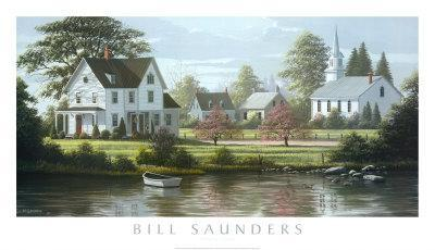 River's Edge-Bill Saunders-Art Print