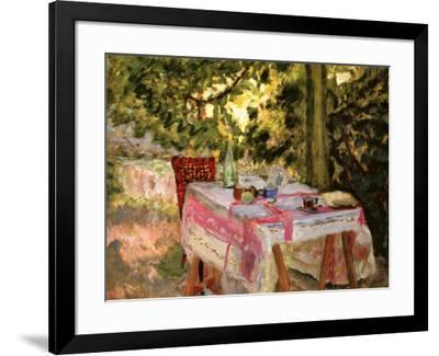 Table Set in a Garden-Pierre Bonnard-Framed Art Print