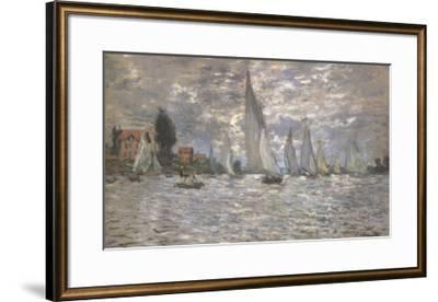 Les Barques, Regates a Argenteuil-Claude Monet-Framed Art Print