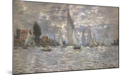 Les Barques, Regates a Argenteuil-Claude Monet-Mounted Art Print