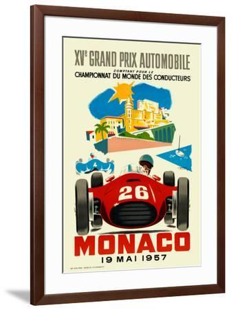 Monaco Grand Prix, 1957--Framed Art Print