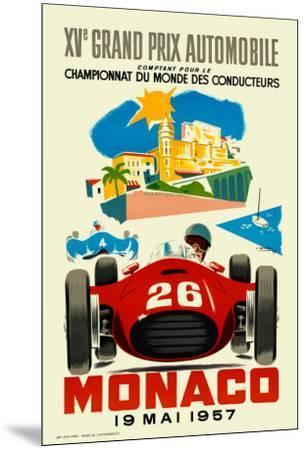 Monaco Grand Prix, 1957--Mounted Art Print