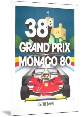 Monaco Grand Prix, 1980--Mounted Art Print