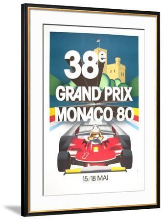 Monaco Grand Prix, 1980--Framed Art Print