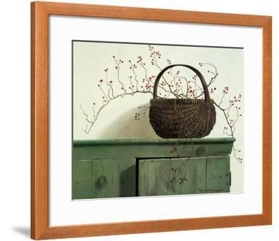 Wild Rose Berries-Pauline Ebl? Campanelli-Framed Art Print