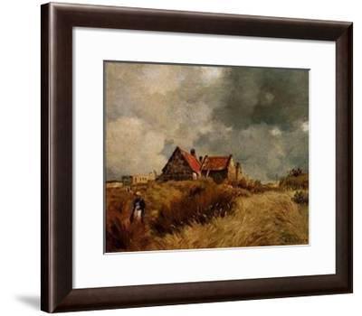 Cottage in the Dunes-Jean-Charles Cazin-Framed Art Print