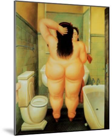 Bath-Fernando Botero-Mounted Art Print