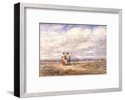 Flying the Kite-David Cox-Framed Art Print
