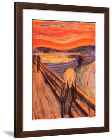 The Scream, c.1893-Edvard Munch-Framed Art Print