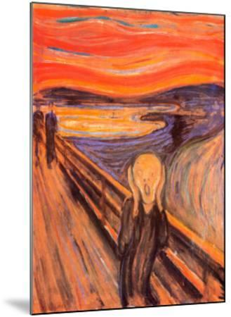 The Scream, c.1893-Edvard Munch-Mounted Art Print