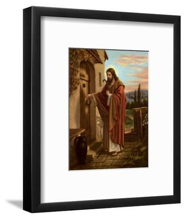 Anklopfender Christus--Framed Art Print