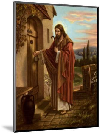 Anklopfender Christus--Mounted Art Print