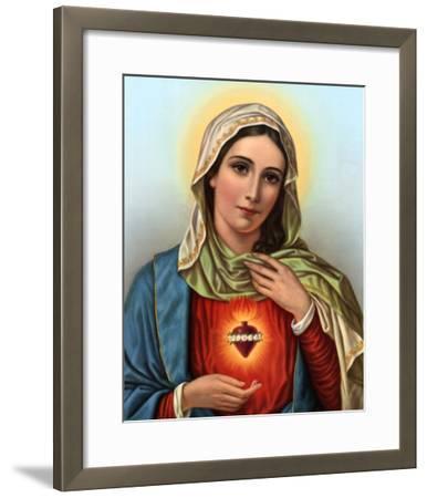 Sacred Heart of Mary--Framed Art Print