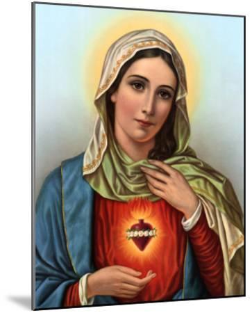 Sacred Heart of Mary--Mounted Art Print