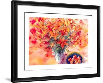 Tiger Lilies-Mae Book-Framed Art Print