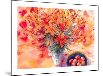 Tiger Lilies-Mae Book-Mounted Art Print