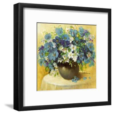Blaue Blumen Serie-R^ Bertram-Framed Art Print