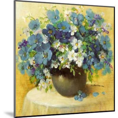 Blaue Blumen Serie-R^ Bertram-Mounted Art Print