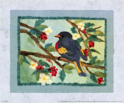 Songbird-Linn Done-Framed Art Print