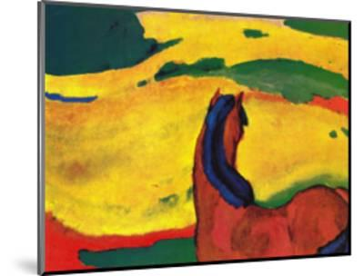 Pferd in Landschaft-Franz Marc-Mounted Art Print