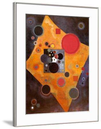 Aczent in Rosa-Wassily Kandinsky-Framed Art Print