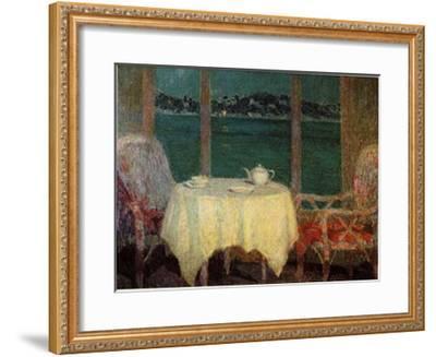 Terrasse am Meer Bei St Trope-Henri Eugene Augustin Le Sidaner-Framed Art Print