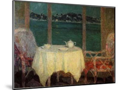 Terrasse am Meer Bei St Trope-Henri Eugene Augustin Le Sidaner-Mounted Art Print