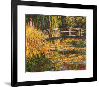 Water Lily Pond-Pink Harmony-Claude Monet-Framed Art Print