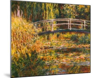 Water Lily Pond-Pink Harmony-Claude Monet-Mounted Art Print