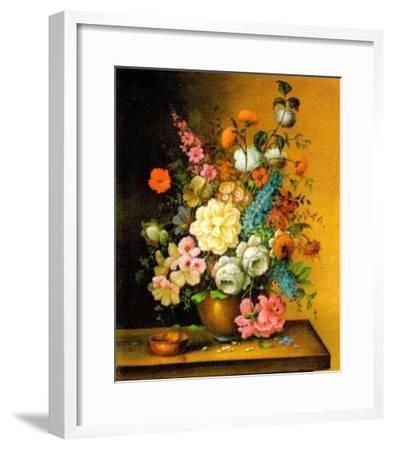 Altmeisterliche Blumen-Corrado Pila-Framed Art Print
