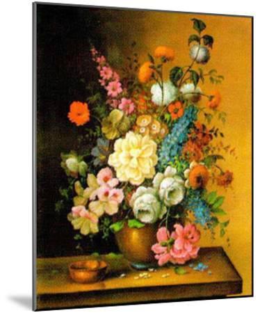 Altmeisterliche Blumen-Corrado Pila-Mounted Art Print