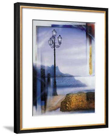 Mallorca Lamp Post-W^ Reinshagen-Framed Art Print