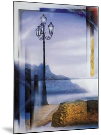 Mallorca Lamp Post-W^ Reinshagen-Mounted Art Print
