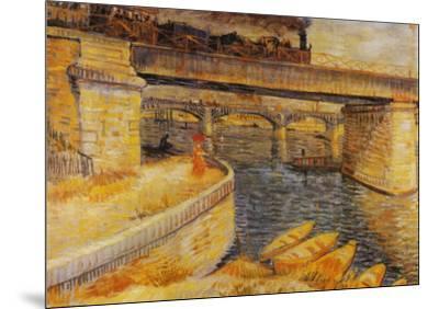 The Bridge at Asnieres-Vincent van Gogh-Mounted Art Print
