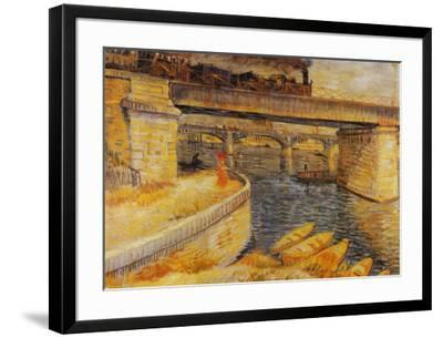 The Bridge at Asnieres-Vincent van Gogh-Framed Art Print