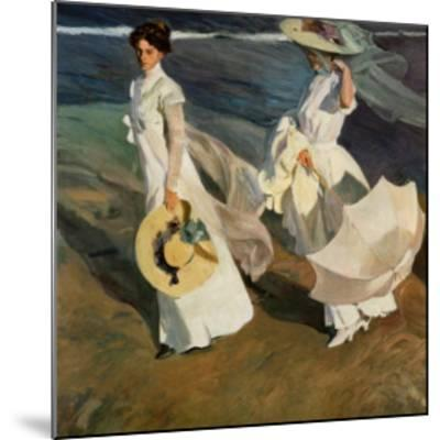 Walk on the Beach-Joaqu?n Sorolla y Bastida-Mounted Art Print