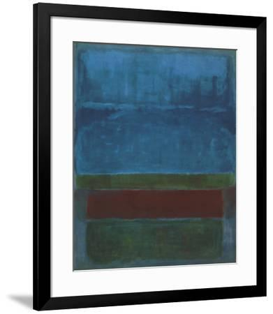 Blue, Green, and Brown-Mark Rothko-Framed Art Print