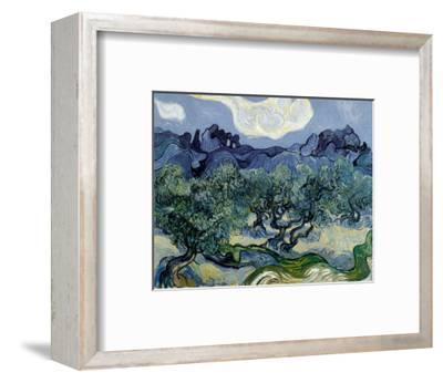 Landscape with Olive Trees-Vincent van Gogh-Framed Art Print