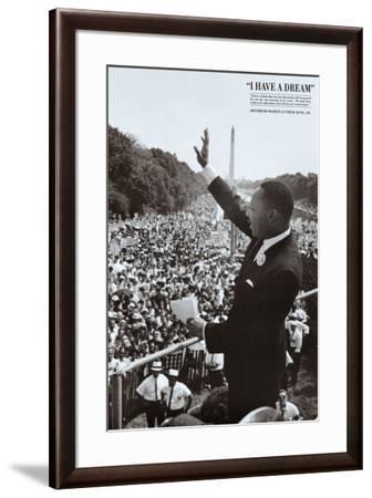 King I Have a Dream--Framed Art Print