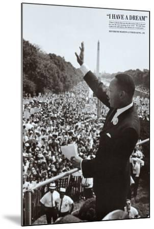 King I Have a Dream--Mounted Art Print