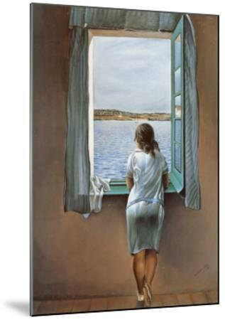 Person at the Window-Salvador Dal?-Mounted Art Print