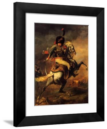 Officer of the Imperial Guard-Th?odore G?ricault-Framed Art Print