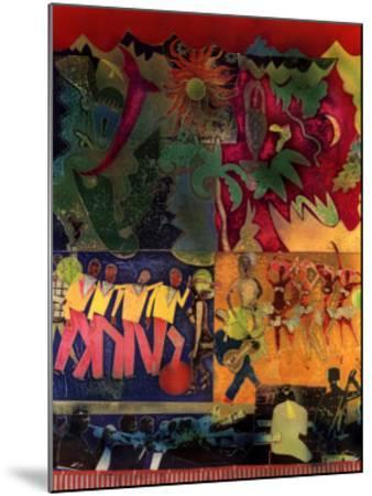 Wrapping It Up at the Lafayette-Romare Bearden-Mounted Art Print