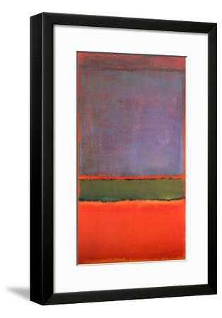 No. 6 (Violet, Green and Red), 1951-Mark Rothko-Framed Art Print