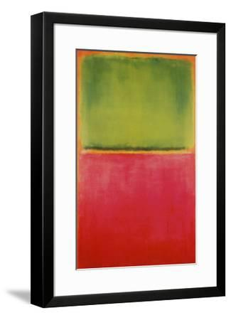 Green, Red, on Orange-Mark Rothko-Framed Art Print